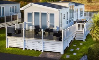 Holiday home using the Hampton Decking product