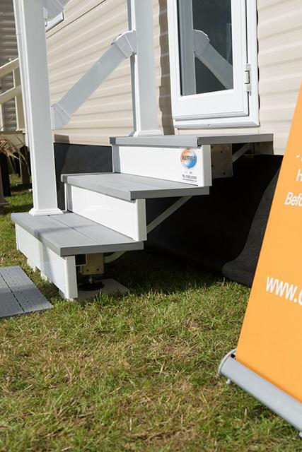 static caravan steps with handrail