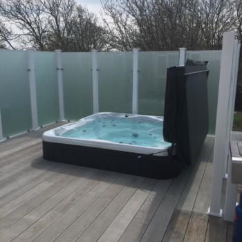 Hot Tubs Platforms for Decking installed by Mayfield UK