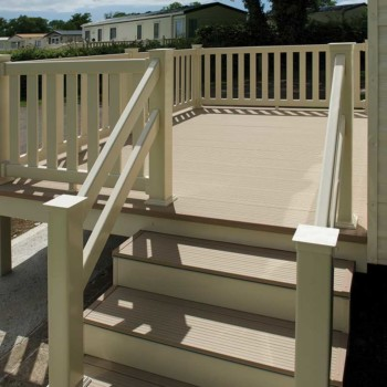 Static Caravan Decking installed around the UK by The Mayfield Group