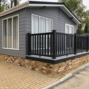 brick skirting for holiday homes