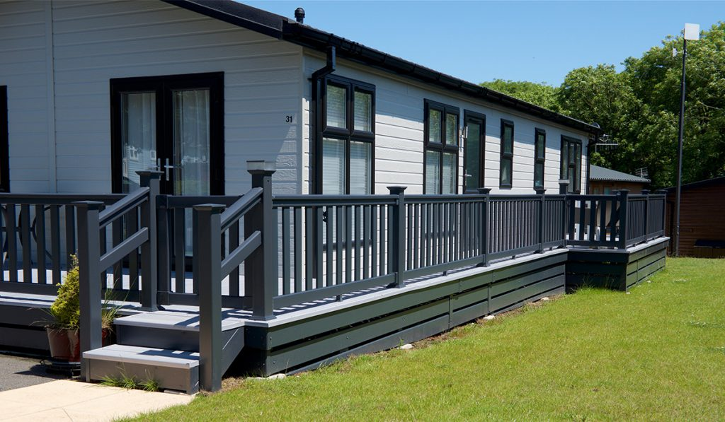 modern caravan decking mayfield