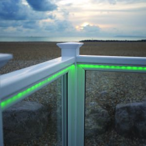 upvc decking with lights