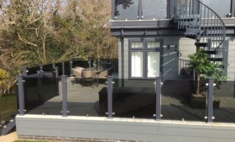 uPVC Decking with Glass Balustrades