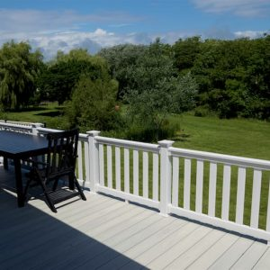 white Upvc hampton decking