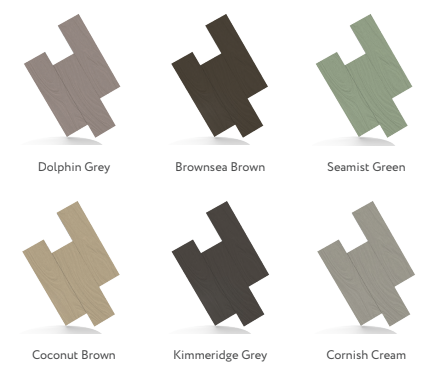 Colours available in the hampton decking range