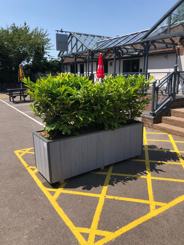 These uPVC Bespoke Planters can be used as a social distancing measure