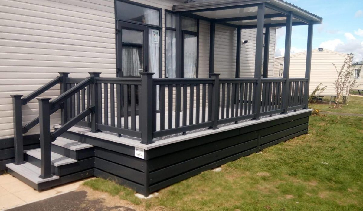 Canopy Decking by The Mayfield Group at Tattershall Lakes Holiday Park