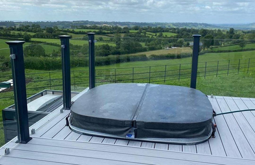 Decking with Hot Tubs