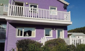 Two-storey Hampton Decking on a gorgeous residential property