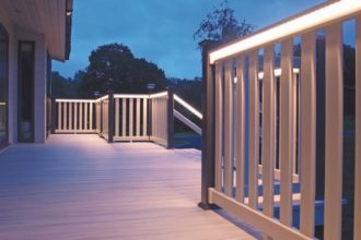LED balustrades for decking
